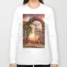 Cute playing fairys in the sunset Long Sleeve T-shirt