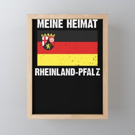 Rhineland Palatinate flag coat of arms flag logo gift Framed Mini Art Print