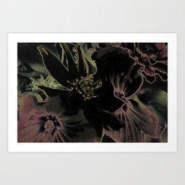 Flower bouquet...Neon Art Print