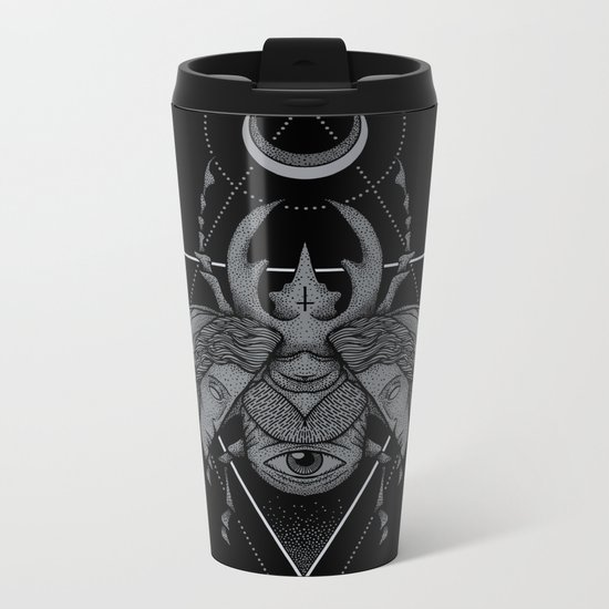 Occult Beetle Metal Travel Mug