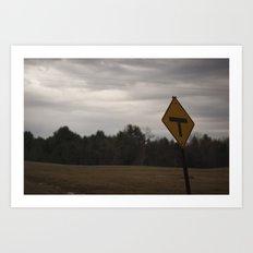 T Road Art Print