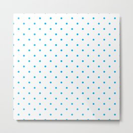 Small Blue Polka Dots Metal Print