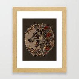 A Little Wolf Moon Framed Art Print