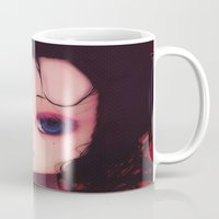 geisha Mugs featuring Geisha by Ludovic Jacqz