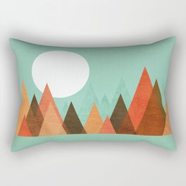 From the edge of the mountains Rectangular Pillow