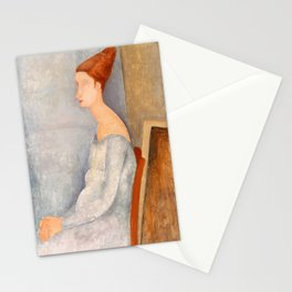 """Amedeo Modigliani """"Portrait of Jeanne Hébuterne"""" Stationery Cards"""