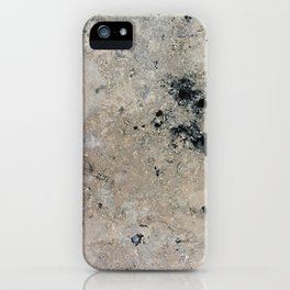 Abstract vintage black gray ivory marble iPhone Case