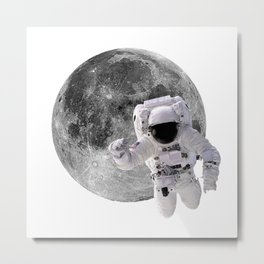 Flying To The Moon Metal Print