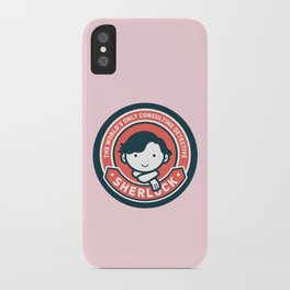 Sherlock - Cute Sherlock Holmes in Red iPhone Case