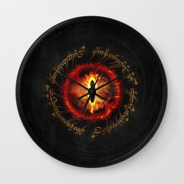 lord rings Eye Scripture Wall Clock