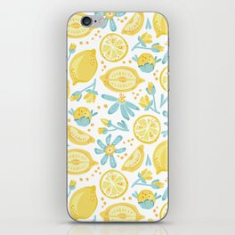Lemon pattern White iPhone Skin