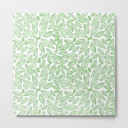 Hojas verdes Green leaves Metal Print