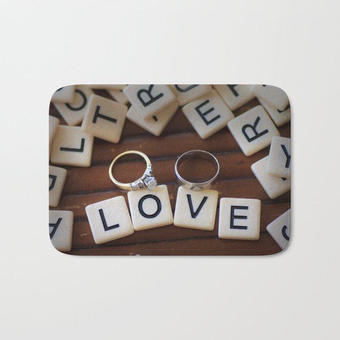 Love Letters Bath Mat