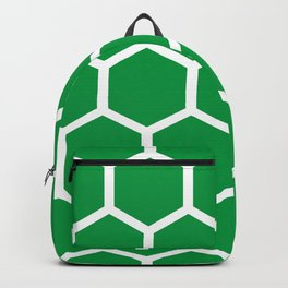 Honeycomb pattern - green Backpack