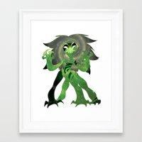 malachite Framed Art Prints featuring Malachite by Draikinator