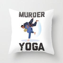 Murder Yoga Mix Martial Art Fighting Throw Pillow