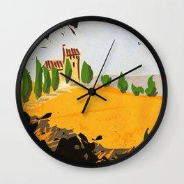 Tuscany countryside landscape Wall Clock