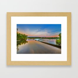 Colours of Ivanhoe Crossing Framed Art Print