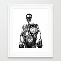 mike tyson Framed Art Prints featuring Mike Tyson by Motohiro NEZU
