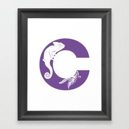 C is for Chameleon - Animal Alphabet Series Framed Art Print