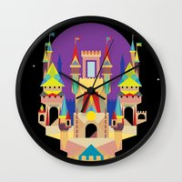 castle Wall Clocks featuring castle  by crayon dreamer