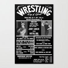 #10-B Memphis Wrestling Window Card Canvas Print