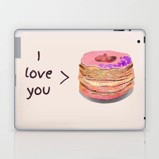 I love you more than cronuts Laptop & iPad Skin