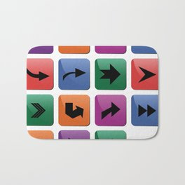Arrow sign collection Bath Mat