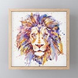 Lion Head Framed Mini Art Print