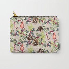Repeating Pinecone Pattern Carry-All Pouch