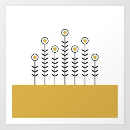 Spring Shoots (Spicy Mustard) Art Print