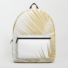 Gold Palm Leaves Dream - Cali Summer Vibes #1 #tropical #decor #art #society6 Backpack