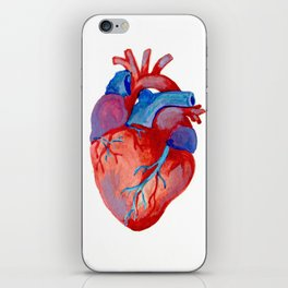the human heart iPhone Skin