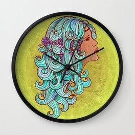 Boho Gypsy Girl Wall Clock
