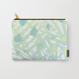 Abstract Paint Pattern Green Carry-All Pouch