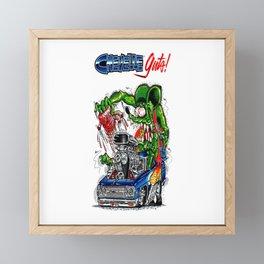 Rat Fink Chevelle Hot Rot Framed Mini Art Print