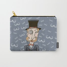 mustachioed man in a pince-nez and the cylinder Carry-All Pouch