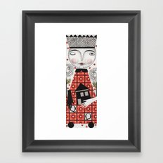 The White Queen Framed Art Print