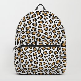 Leopard Print - Bg White Backpack