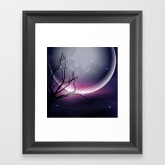 Face of the Moon Framed Art Print