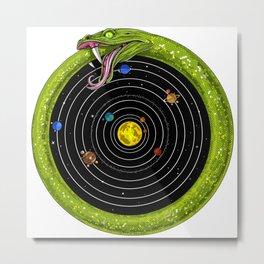 Ouroboros Snake Astronomy Metal Print