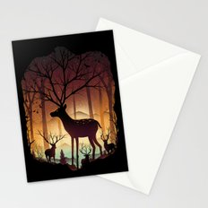 Into Deer Woods Stationery Cards