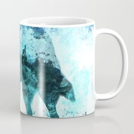 Double Exposure Wolf / Full Moon Wolves / Dark Forest Witch / Galaxy Space Wolf Coffee Mug