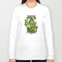 tmnt Long Sleeve T-shirts featuring TMNT by Hisham Al Riyami