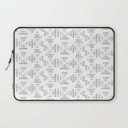 love sex cheat karma seamless pattern Laptop Sleeve