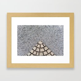 Pattern on floor Framed Art Print