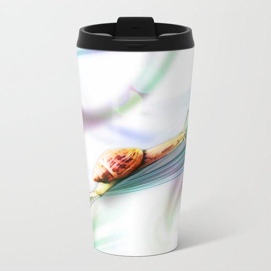 The Snail (Pretty Bokeh Background) Metal Travel Mug