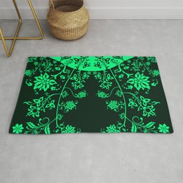 floral ornaments pattern chp150 Rug