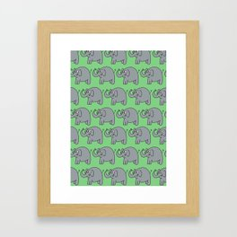 Elephants Framed Art Print