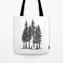 Camping with giants Tote Bag